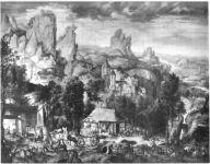 Paysages avec forges et minières - Henri Bles